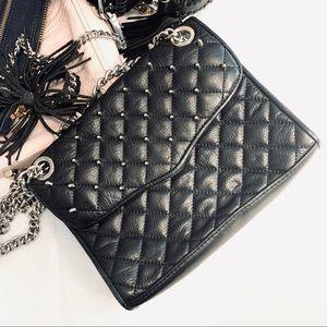 Rebecca Minkoff Studded Quilted Affair Bag Black